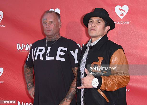 Jay Adams and Christian Hosoi attend the 2013 MusiCares MAP Fund Benefit Concert honoring Chester Bennington and Tony Alva at Club Nokia on May 30...
