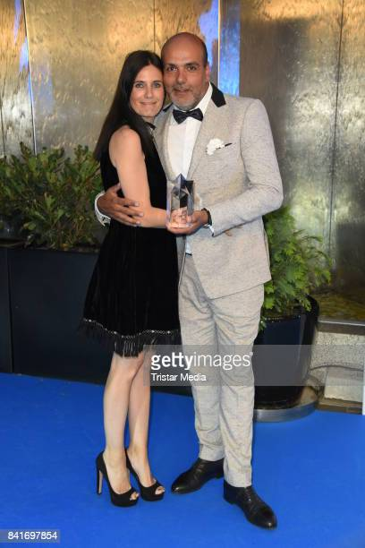 Jay Alexander and his wife Vanessa Pfitzenmeier during the Alcatel Entertainment Night feat Music Meets Media at Sheraton Berlin Grand Hotel...