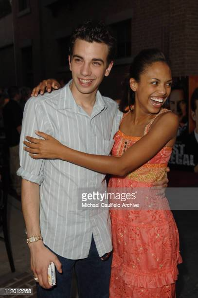 Jay Baruchel and Jaime Lee Kirchner during The WB's 7th Annual Affiliate Advertiser Fall Launch Party at Warner Bros Studios in Burbank California...