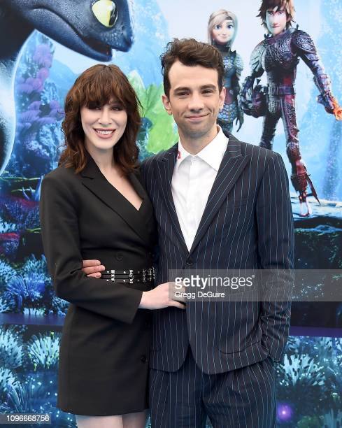 """Jay Baruchel and Rebecca-Jo Dunham arrive at Universal Pictures And DreamWorks Animation Premiere Of """"How To Train Your Dragon: The Hidden World"""" at..."""