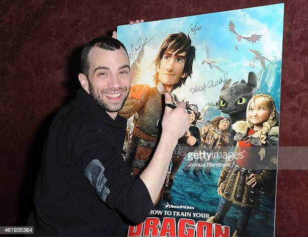 Jay Baruchel arrives at Awardsline/Deadline Hollywood screening of DreamWorks' How to Train Your Dragon 2 at Landmark Theatre on January 21 2015 in...