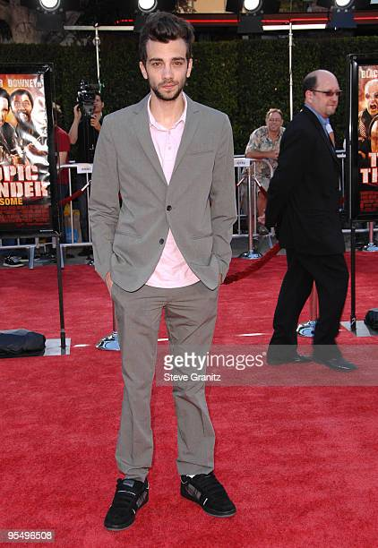 Jay Baruchel arrives at the Los Angeles Premiere Of Tropic Thunder at the Mann's Village Theater on August 11 2008 in Los Angeles California