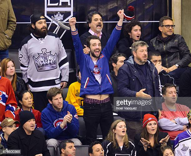 Jay Baruchel attends a hockey game between the Montreal Canadiens and the Los Angeles Kings at Staples Center on March 3 2014 in Los Angeles...