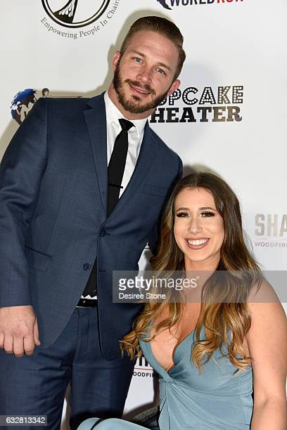Jay Bloomfield and Chelsie Hill attend the official launch of the EPIC Project at Cupcake Theater on January 26 2017 in Los Angeles California