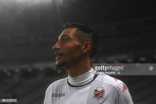 Jay Bothroyd of Consadole Sapporo celebrates his side's 21 victory in the JLeague J1 match between FC Tokyo and Consadole Sapporo at Ajinomoto...