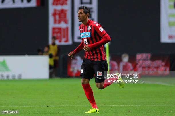 Jay Bothroyd of Consadole Sapporo in action during the JLeague J1 match between Consadole Sapporo and Yokohama FMarinos at Sapporo Dome on August 9...