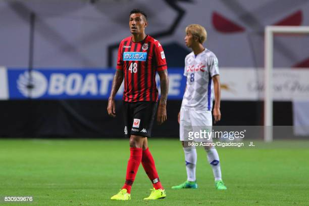 Jay Bothroyd of Consadole Sapporo in action during the JLeague J1 match between Consadole Sapporo and Ventforet Kofu at Sapporo Dome on August 13...