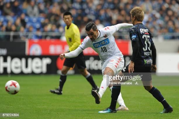 Jay Bothroyd of Consadole Sapporo shoots at goal during the JLeague J1 match between Gamba Osaka and Consadole Sapporo at Suita City Football Stadium...