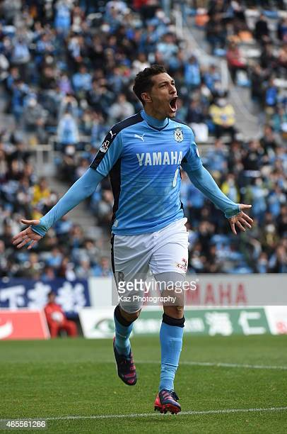 Jay Bothroyd of Jubilo Iwata Celebrates his 1st goal of J league during the JLeague second division match between Jubilo Iwata and Giravanz...