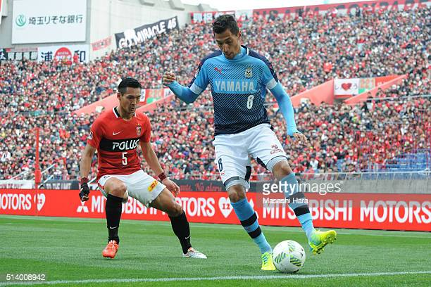 Jay Bothroyd of Jubilo Iwata in action during the JLeague match between Urawa Red Diamonds and Jubilo Iwata at Saitama Stadium on March 6 2016 in...