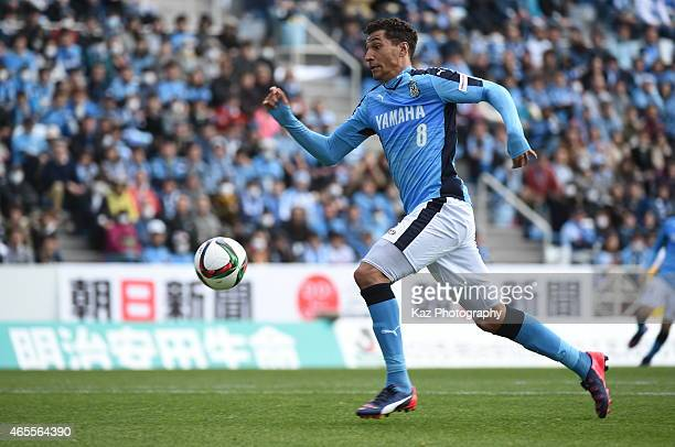 Jay Bothroyd of Jubilo Iwata scores his 1st goal of J league during the JLeague second division match between Jubilo Iwata and Giravanz Kitakyushu at...