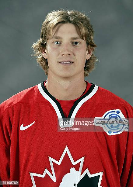 Jay Bouwmeester of Team Canada poses for a portrait during camp at the University of Ottawa Ottawa Ontario August 19 2004