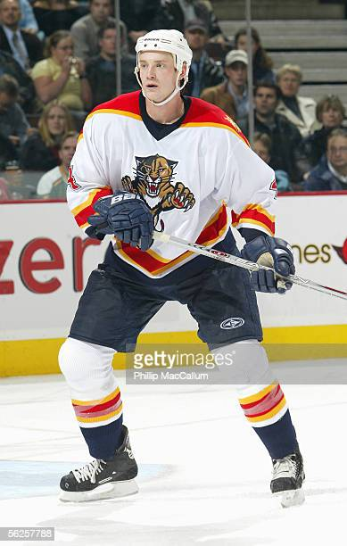 Jay Bouwmeester of the Florida Panthers skates during the game against the Ottawa Senators at Corel Centre on November 17 2005 in Ottawa Ontario...