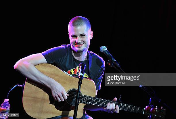 Jay Brannan performs at his album release party at Le Poisson Rouge on March 23, 2012 in New York City.