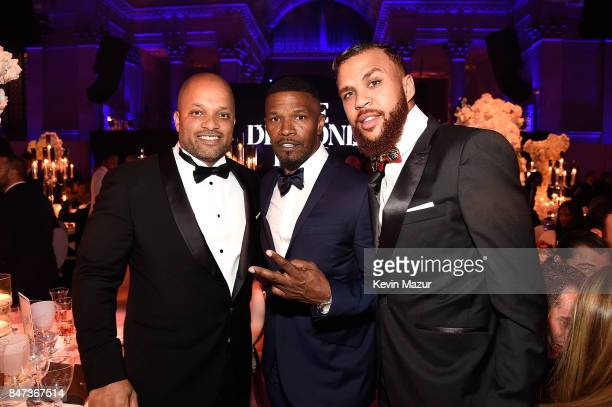 Jay Brown and Jamie Foxx attend Rihanna's 3rd Annual Diamond Ball Benefitting The Clara Lionel Foundation at Cipriani Wall Street on September 14...