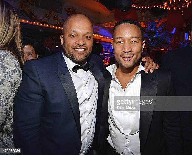 Jay Brown and John Legend attend Rihanna's private Met Gala after party at Up Down on May 4 2015 in New York City