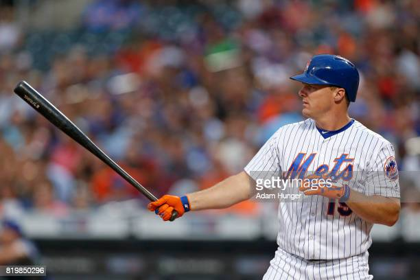 Jay Bruce of the New York Mets at bat during the second inning against the Colorado Rockies at Citi Field on July 15 2017 in the Flushing...