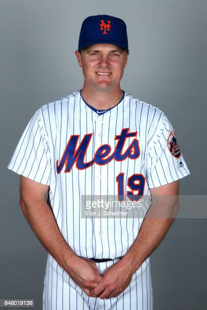 Jay Bruce of the New York Mets poses during Photo Day on Wednesday February 22 2017 at Tradition Field in Port St Lucie Florida