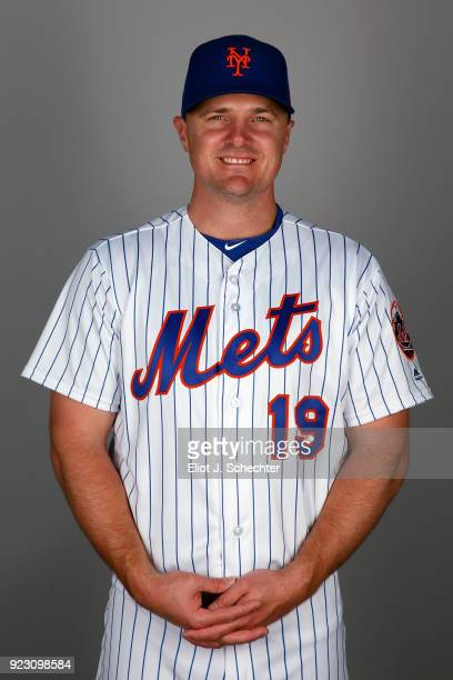 Jay Bruce of the New York Mets poses during Photo Day on Wednesday February 21 2017 at Tradition Field in Port St Lucie Florida