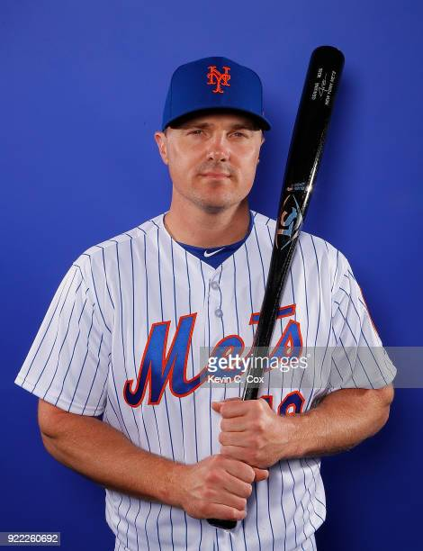 Jay Bruce of the New York Mets poses for a photo during photo days at First Data Field on February 21 2018 in Port St Lucie Florida