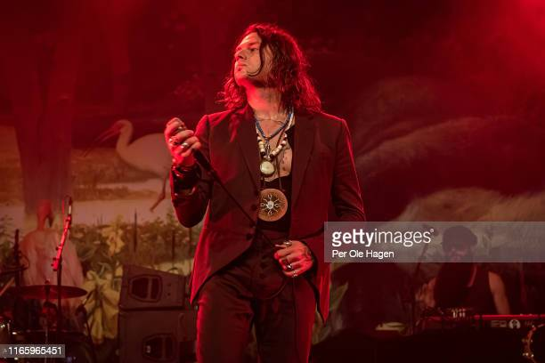 Jay Buchanan and TTodd Ögren of Rival Sons perform on stage at The Notodden Blues Festival on August 3 2019 in Notodden Norway