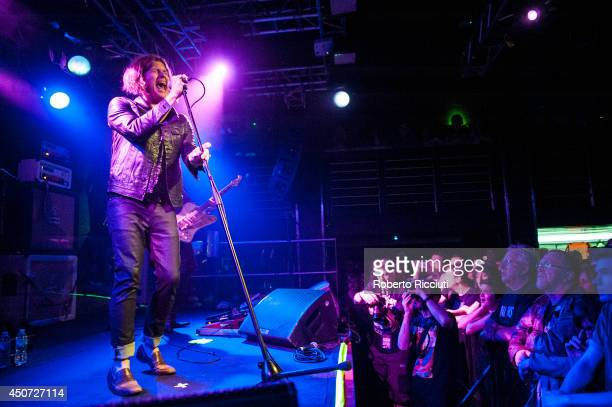 Jay Buchanan of Rival Sons performs on stage at The Liquid Room on June 16, 2014 in Edinburgh, United Kingdom.