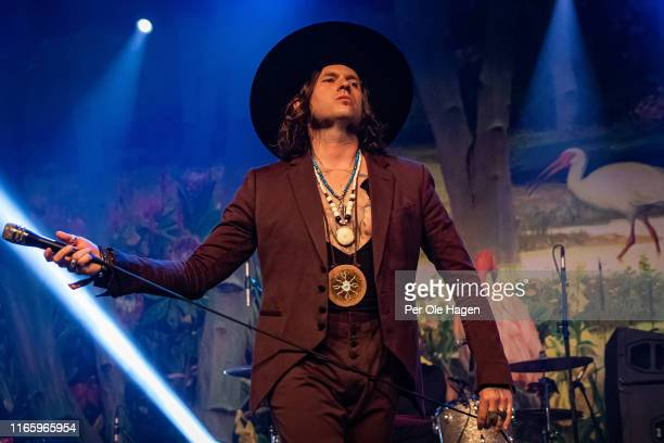 Jay Buchanan of Rival Sons performs on stage at The Notodden Blues Festival on August 3 2019 in Notodden Norway
