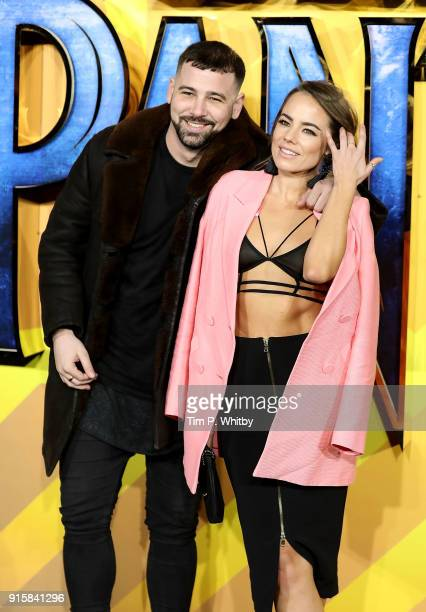 Jay Camilleri and Emma Conybeare attend the European Premiere of 'Black Panther' at Eventim Apollo on February 8 2018 in London England