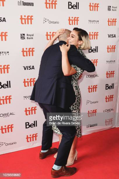 Jay Carson and Molly Ephraim attendThe Front Runner premiere at Ryerson Theatre on September 8 2018 in Toronto Canada