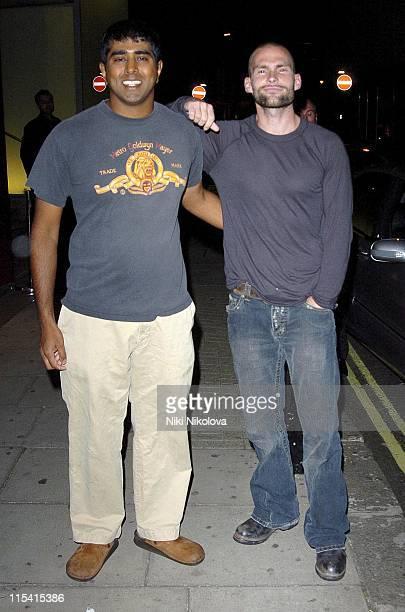 Jay Chandrasekhar and Seann William Scott during Seann William Scott Departs from The Metropolitan Hotel in London August 23 2005 at Metropolitan...