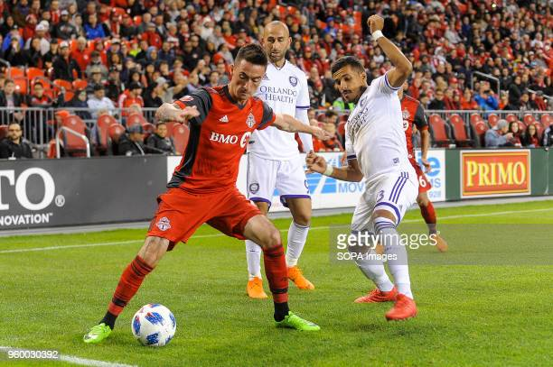 BMO FIELD TORONTO ONTARIO CANADA Jay Chapman tried to get the ball during 2018 MLS Regular Season match between Toronto FC and Orlando City SC at BMO...