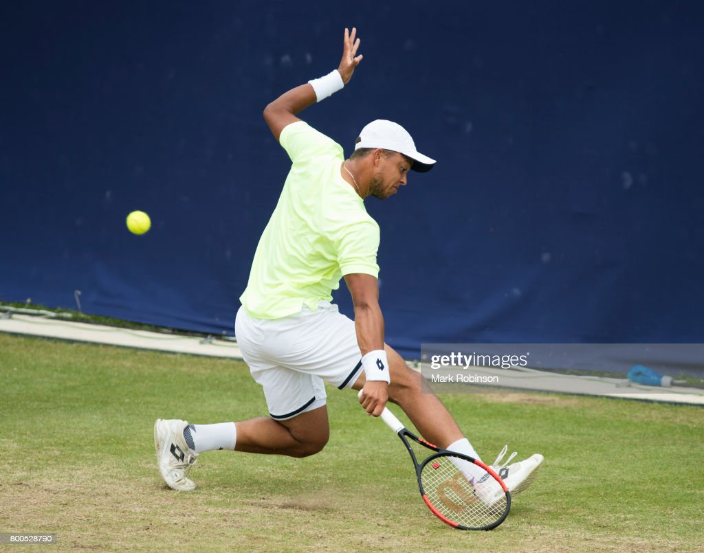 Jay Clarke of Great Britain during his quarter final match on June 24, 2017 in Ilkley, England.