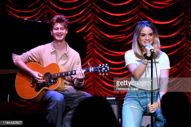 Jay Cooper and JoJo perform at GRAMMY Camp Guest Artist Masterclass at USC Thornton School of Music on July 26 2019 in Los Angeles California