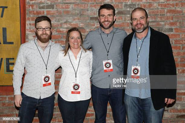 Jay Curley Beth Montouri Rowles Brodie O'Brien and Andy Bernstein attend the 2018 Relix Live Music Conference at Brooklyn Bowl on May 9 2018 in New...