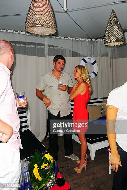 Jay Cutler and Kristin Cavallari attend Official Kick Off Party Presented By SKYY Vodka during MerecedesBenz Fashion Week Swim 2012 at Raleigh Hotel...
