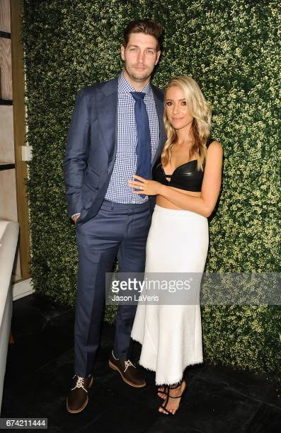 Jay Cutler and Kristin Cavallari attend the launch event for Uncommon James at Fig Olive on April 27 2017 in West Hollywood California