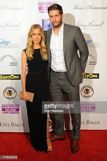 Jay Cutler and Kristin Cavalleri attend the Dancing with the Stars Charity event hosted by Jenny McCarthy on August 24 2013 at Hotel Baker in St...