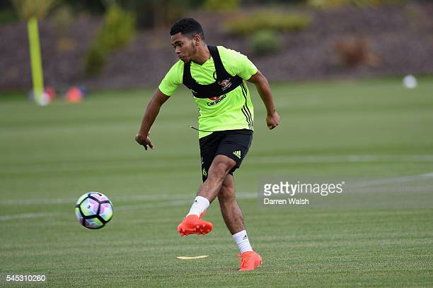 Jay Dasilva at Chelsea Training Ground on July 6 2016 in Cobham England