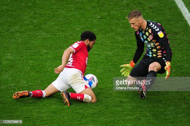 Jay Dasilva of Bristol City in action during the Sky Bet Championship match between Bristol City and Swansea City at Ashton Gate on October 24 2020...