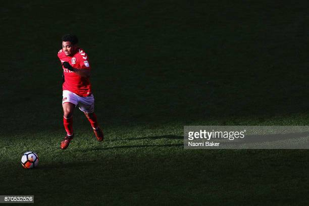 Jay Dasilva of Charlton Athletic in action during the FA Cup First Round match between Charlton Athletic and Truro City at The Valley on November 5...