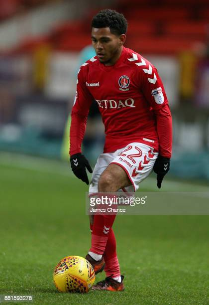 Jay Dasilva of Charlton Athletic runs with the ball during the Sky Bet League One match between Charlton Athletic and Peterborough United at The...