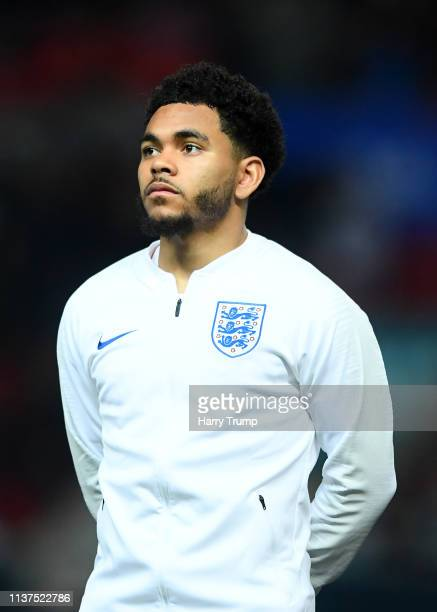 Jay Dasilva of England during the U21 International Friendly match between England and Poland at Ashton Gate on March 21 2019 in Bristol England