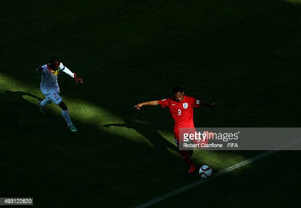 Jay Dasilva of England kicks the ball during the FIFA U17 World Cup Group B match between England and Guinea at Estadio Francisco Sanchez Rumoroso on...