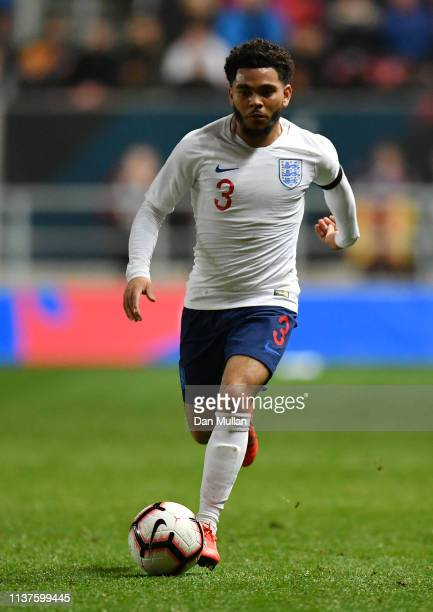 Jay Dasilva of England takes the ball forward during the International Friendly match between England U21 and Poland U21 at Ashton Gate on March 21...