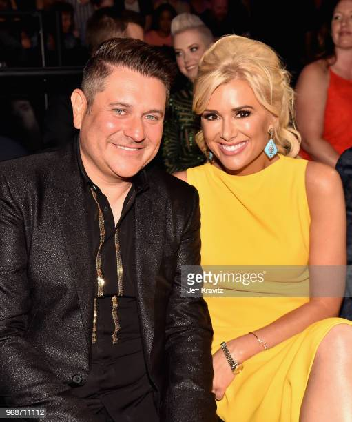 Jay DeMarcus and Allison Alderson attend the 2018 CMT Music Awards at Bridgestone Arena on June 6 2018 in Nashville Tennessee