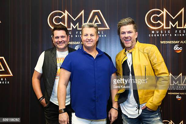 Jay DeMarcus Gary LeVo and Joe Don Rooney in the press room during CMA Music Fest on June 9 2016 in Nashville Tennessee
