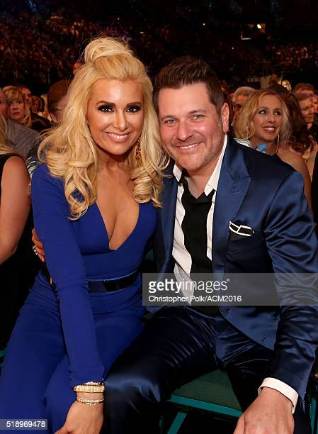 Jay DeMarcus of Rascal Flatts and Allison Alderson attend the 51st Academy of Country Music Awards at MGM Grand Garden Arena on April 3 2016 in Las...