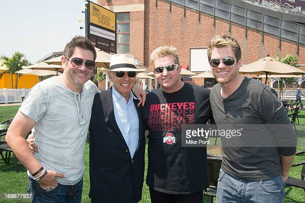 Jay DeMarcus Ron Delsener Gary LeVox and Joe Don Rooney attend the press preview of the newly restored Nikon At Jones Beach Theater after being...
