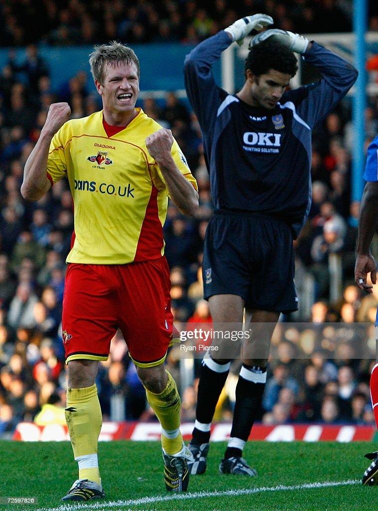 Portsmouth v Watford : News Photo