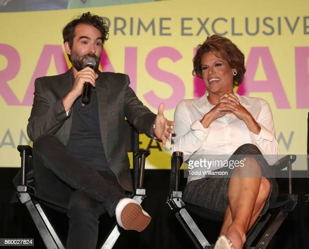 Jay Duplass and Alexandra Billings attend an Amazon Prime Exclusive Series Transparent Season 4 SAG Screening on October 10 2017 in Los Angeles...